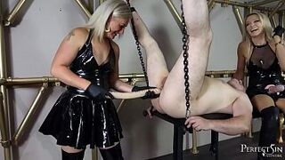 22 inches Deep Inside - Pegging by Mistress Athena and Female Inky Angel