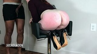 Innocent Red Hair Throat Humped and Spanked- JayJadeMoon Clumsy Couple