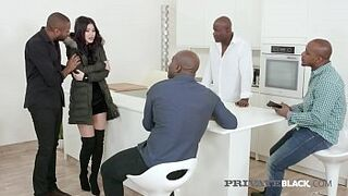 Private Dark - Daughter Czech Wife Dee Gets four Enormous Ebony Cocks!