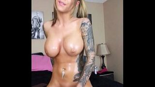 Oiled-up EIGHTEEN YEARS OLD Karma Rx on Sybian Intercourse Machine--Immense Orgasm