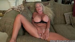 American gilf Kyle spoils us with her immense big boobs