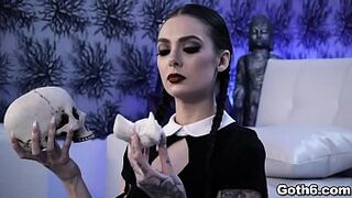 Gorgeous Gothic hoe Marley Brinx is ready for some sex act adventure with her lustful boyfriend Markus Dupree.