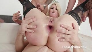 4on1 No Pinky Peach with Layla Price Lust, balls deep asshole, gapes, DAP and Squirting