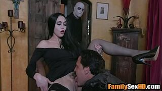 Adam's family taboo orgy - mother dad shag son and young lady parody