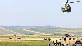 Brazzers - Giant Soaked Butts -  Military Bum scene starring Devon Lee and James Deen