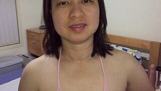 Asian mommy - Vagina Playing For XVideos Fans in Blushing Body Stockings