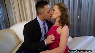 Glamorous gilf pussylicked before sex act in couple