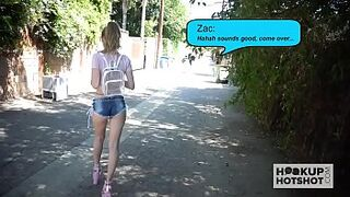 Childlike light-colored Karla Kush gets her bum penetrated by date