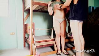 Pinay Adolescent House Maid Gets Screwed and Creampied