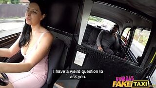 Matron Fake Taxi Kira McQueen sit on a massive sable dick