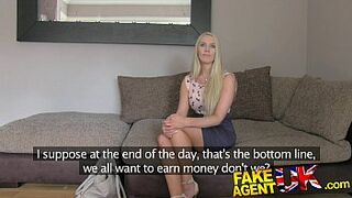 FakeAgentUK South African lovely put through paces in fake casting
