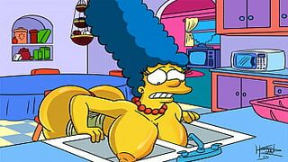 The Simpsons Hentai - Marge Horny (GIF)
