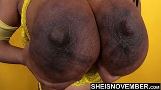 My Big Nipples & Areolas Pushed Extreamly Close, Msnovember Real Titties Extreme Closeup Of Her Saggy Hooters Bobbing Around, With Immense Areoa And Large Nipple on Busty Topless Pretty on Sheisnovember