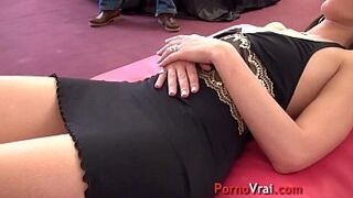 Arab teen gets gangbanged in front of her astounded husband! French inexperienced