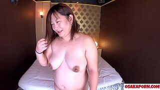 Japanese curvy mother with immense big boobs talks about her screw experience. Newbie Asian shows squirt and creaming the cock with sex act toy. mature BBW Mako one OSAKAPORN