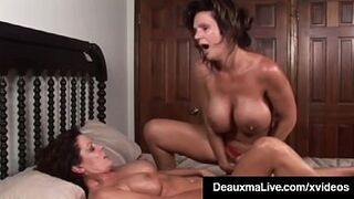 Big Tits Mature Deauxma Squirts in Magdelaine St.Michaels' Mouth!