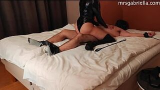 Sub Tickled & Teased By Leather Mistress