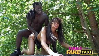Matron Fake Taxi Sexy driver Princess Jas is hungry for dark skin dick