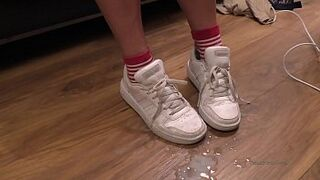 sperm on feet and shoes cumpilation sperm shot compilation YummyCouple