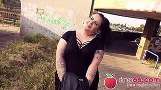 IMMENSE GERMAN eighteen years old AnastasiaXXX gets some stranger's MAN MEAT in her CUNT right next to the autobahn! (ENGLISH) Dates66.com