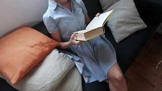 18Yo m. while reading (Full video on Xvideos Red)