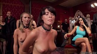 Slaves fucking at party for guests