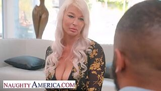 Naughty America - Honey London River saves the day against her husbands boss