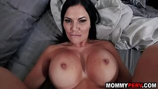 Son catches step adult mastubating and fucks her