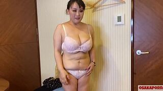 54 years old Japanese curvy mature mom with massive boobs talks in interview about her bang experience. Old Asian wife likes handjob with sexual intercourse toy.  mother BBW Osakaporn