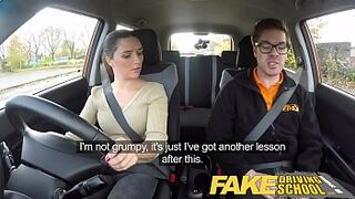 Fake Driving School small size English eighteen years old gets humped after her lesson