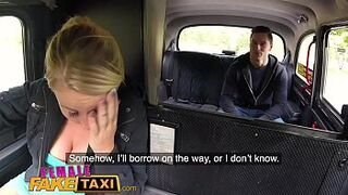 Wife Fake Taxi Lovely yellowish sucks and fucks Czech man meat in taxi