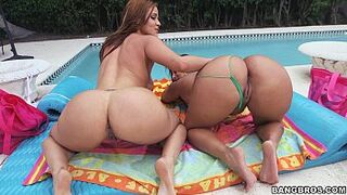 two Super Thick Asses