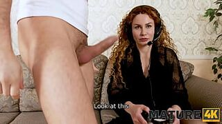 MATURE4K. Chap who doesnt know how to shut up matron fucks mom neighbor