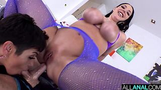 ALL ANUS Brooklyn Gray gets a taste of Angela White's butt