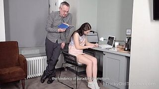 Tricky Old Schoolmaster - Hot Girl achieves her goal with the help of rough intercourse