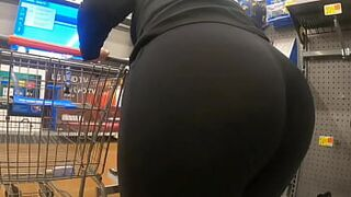 Mommy At Walmart See Through Large Bum Wedgie