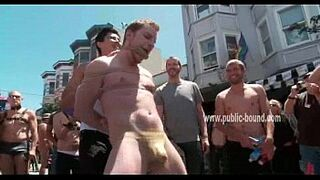 Homosexual slave is flogged