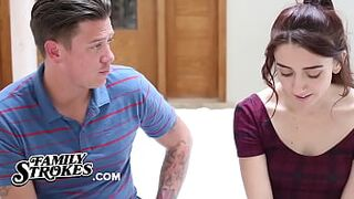 Innocent 18Yo Mandy Muse Needs Butthole Lesson From Her Enormous StepBro
