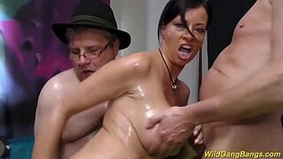 chesty german Stepmom gets oiled and screwed