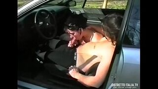 I shag the neighbor in the car while a friend of mine secretly films us