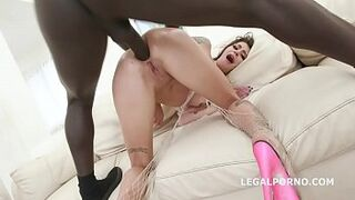 Blackbusters 5on1 with Kacie Castle Balls Deep Butthole / DAP / Gapes / Crampie Taking It All In GIO880