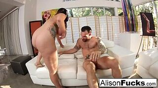 Rock fucking with stacked Alison Tyler and a huge man meat