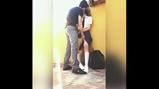 Quickie Inexperienced Sexual Intercourse in College! Mexican Students Fucking Quickly Behind Classrooms!