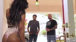 Sable Cali Caliente Orders 2 White Dicks To Destroy Her Vagina