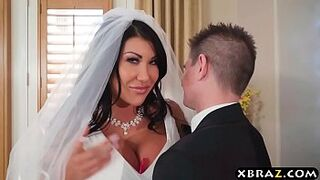 Enormous big boobs bride cheats on her wedding day with the best male