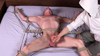Immense Cock Yellowish Twink Cums After Being Whipped & Humped in Bondage - Homosexual BDSM - DreamBoyBondage.com