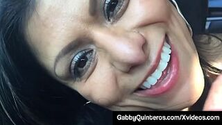 Penis Sucking Mexican Mother Gabby Quinteros Blows Dick In Car!