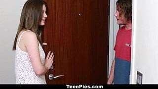 TeenPies - Eighteen Years Old (Delilah Blue) Gets Creampied By Her Mother In Law's BF