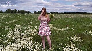 Light-Colored Excited in Nature and Jerk Off in the Field