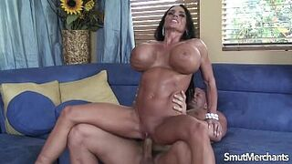 Enormous bombed brown-haired penetrated